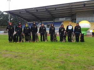 Erfolgreiche Agility-Mannschaft auf der BSP und Gratulation an M. Hekel zur Qualifikation für die WUSV-WM in Randers