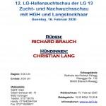 LG-Hallenzuchtschau Biberach-Rissegg 16.02.2020