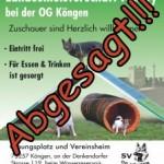 Abgesagt!!! LG-Agilitymeisterschaft 2020 bei der OG Köngen 18.-19.07.2020