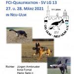 LG-FCI-Qualifikation - OG Ulm/Neu-Ulm am 27.-28.03.2021