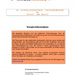 13. Kynologisches Fachseminar für Zucht und Sport
